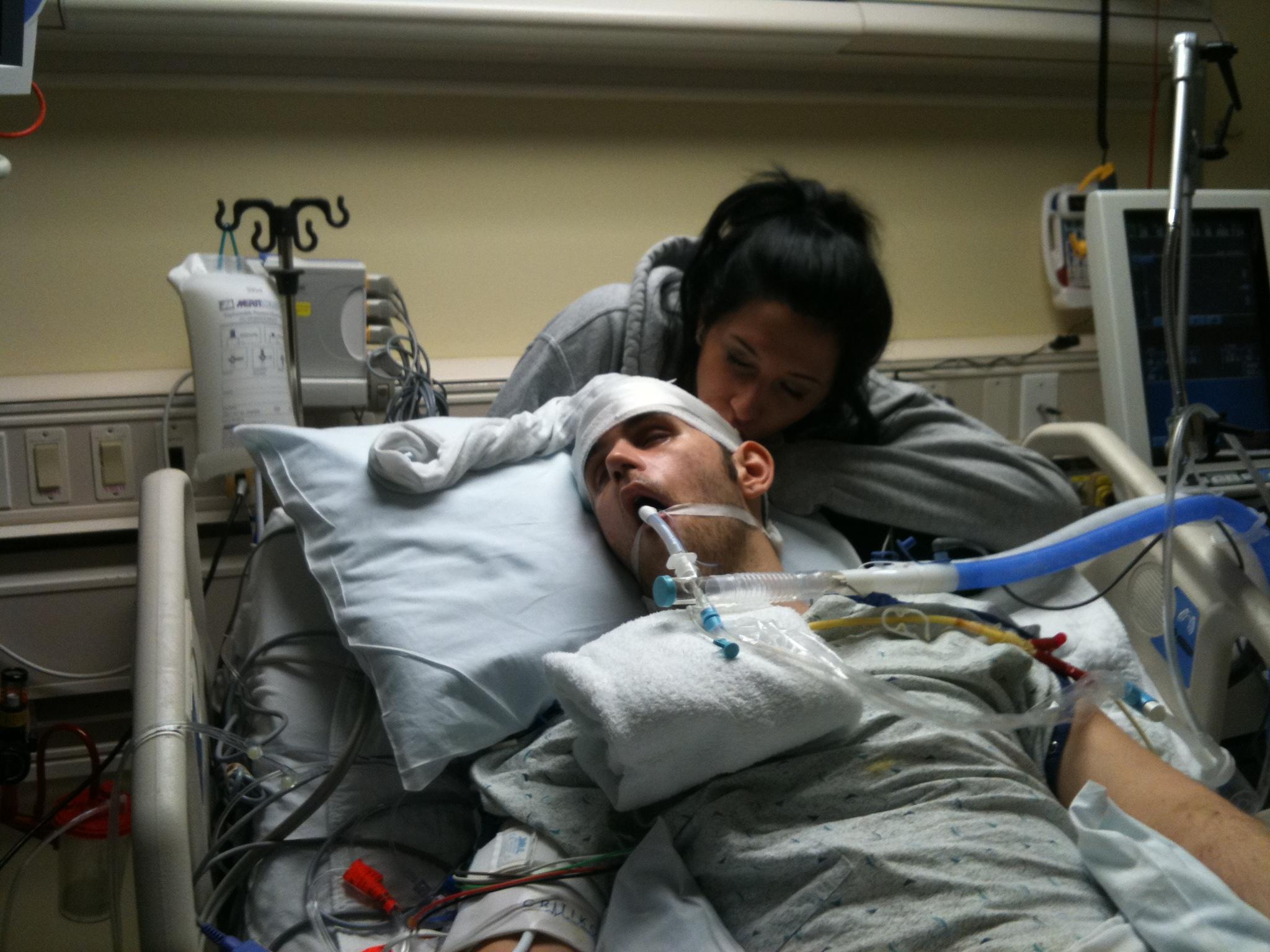 Kari and Ryan in ICU