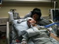 Kari and Ryan in ICU