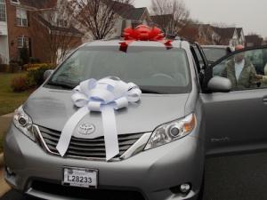Koons Automotive donates Sienna Van!