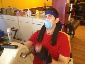 Ryan wears a mask to keep him from getting my illness.