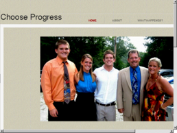 chooseprogress.net cover photo when owned by Vantrease Contingent [via domaincrawler.com]